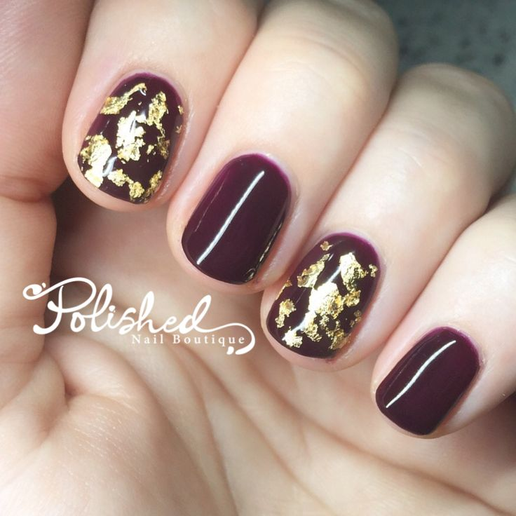 Bio Sculpture Gel Beauty of Perfection with gold foil