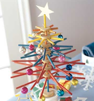 This tinker toy tree would be another fun way to display #TruthTinsel ornaments!
