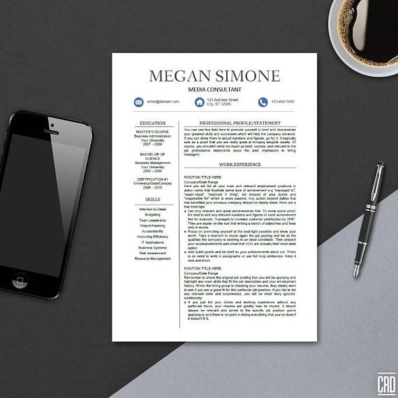 RESUME/CV TEMPLATE FOR MICROSOFT WORD ----------------------------------------------------------------------------------------- Apply to your dream job in style with this minimal and clean resume suite,