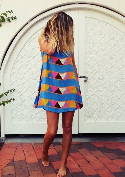 triangle shift dress - fun/unique colors/pattern. A little short though.
