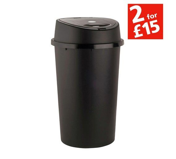 Buy HOME 45 Litre Touch Top Bin - Black at Argos.co.uk - Your Online Shop for Kitchen bins, Kitchenware, Cooking, dining and kitchen equipment, Home and garden.