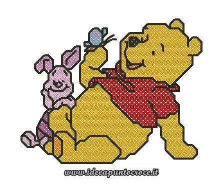 129 best SCHEMI WINNIE THE POOH images on Pinterest Crossstitch - winnie pooh küche