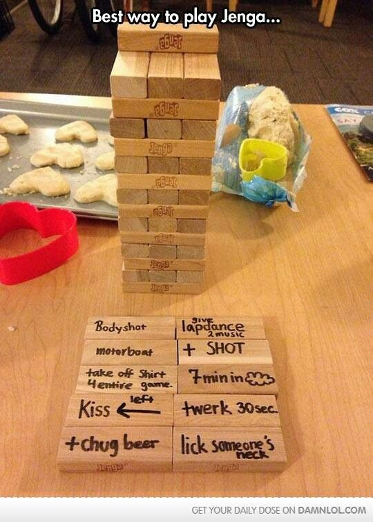 Attractive Dinner Party Entertainment Ideas Part - 1: Best Way To Play Jenga. Find This Pin And More On Dinner Party/entertainment  Ideas ...