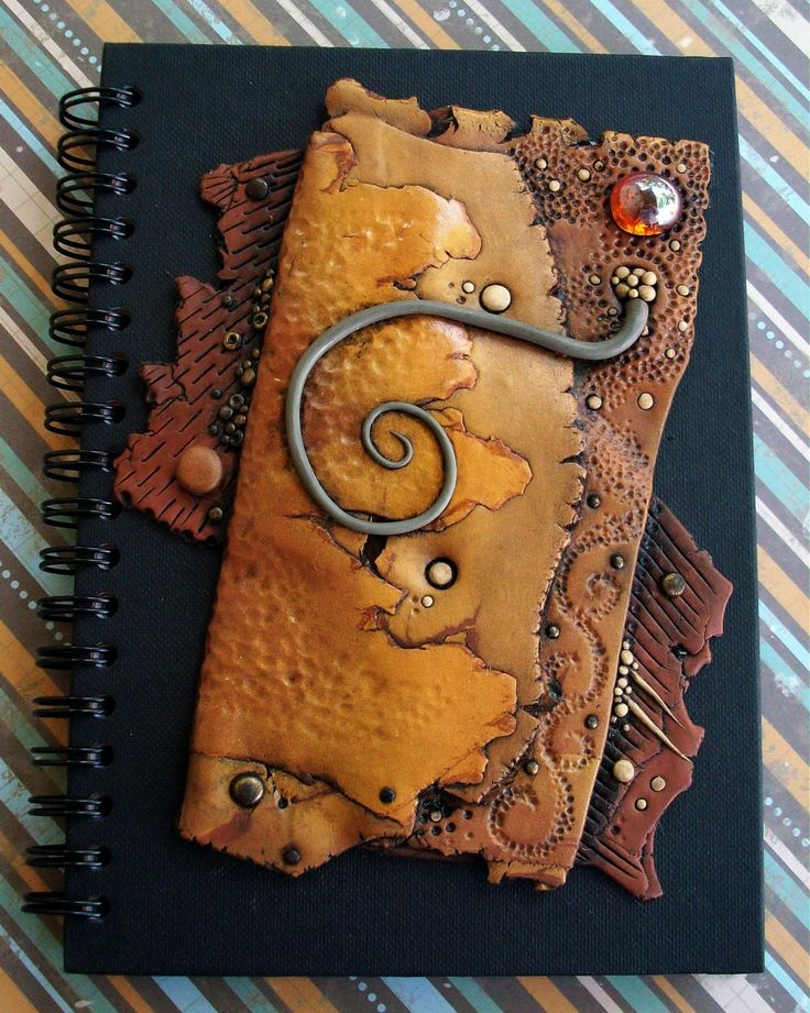 Journal Notebook Handmade Polymer Clay Art Cover. $45.00, via Etsy.