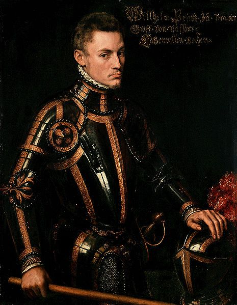 """This dapper gentleman, William I, Prince of Orange aka William the Silent, was the main leader of the Dutch revolt against the Spanish that set off the Eighty Year's War and resulted in the formal independence of the Republic of the United Netherlands in 1648. In the Netherlands he is known as the """"Father of the Fatherland"""", and the Dutch national anthem, Wilhelmus, was written in his honor."""