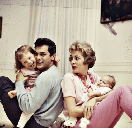 The Curtis family photographed by Allan Grant.