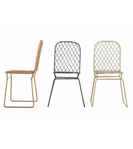 Housedoctor Decoratie miniatuur stoeltjes set van 3 zwart/koper/goud 8x8x16cm Chair Miniature copper/brass/black - wonenmetlef.nl