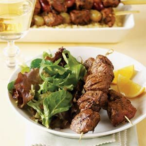 Grilled Lamb Brochettes with Lemon and Dill | I use mint or oregano on these instead of dill.  Great grilling~