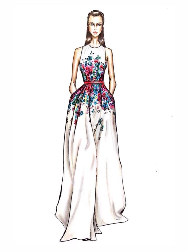 Elie saab rtw illustration
