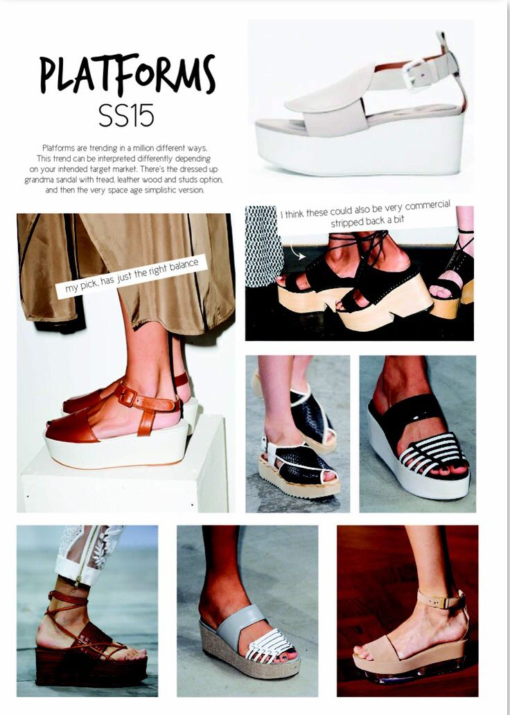 SS15 women's shoe trends. Platforms