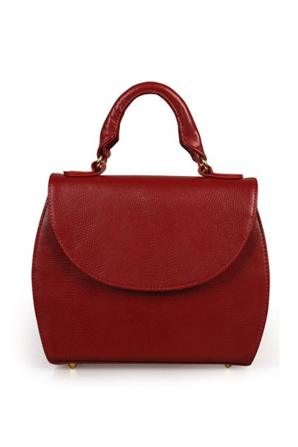 Embossing Surface Retro Dark-red Bag