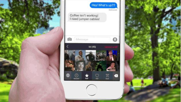 A GIF is worth a thousand words thanks to an iOS custom keyboard