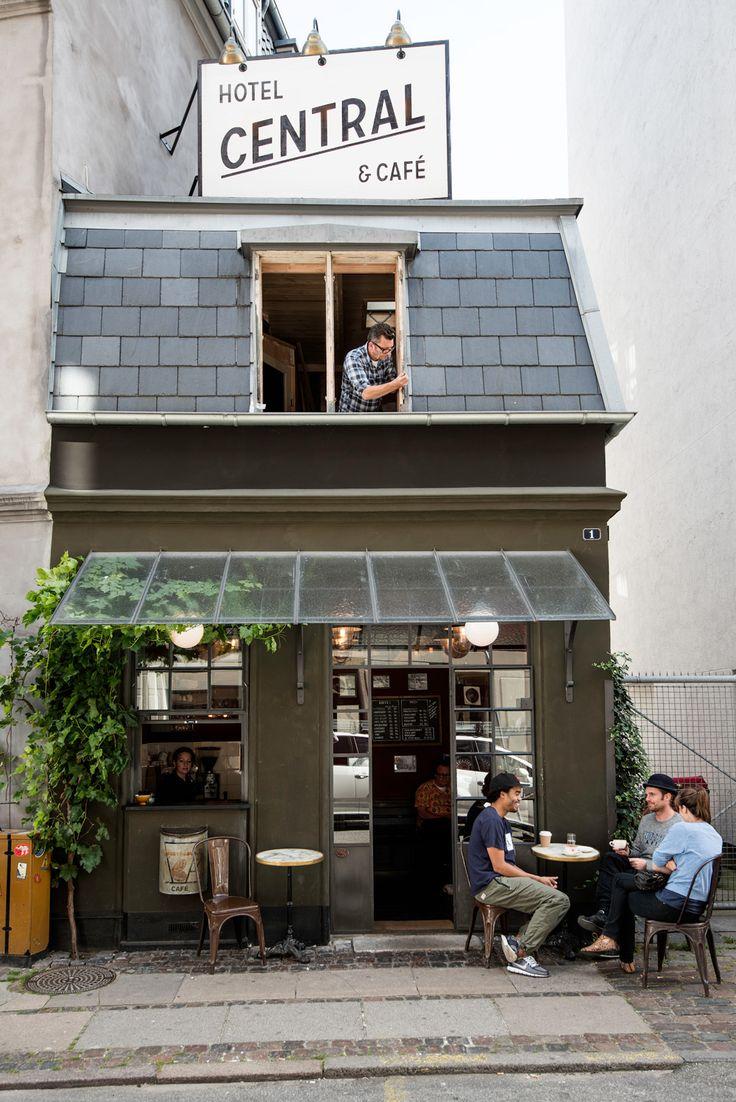 The Central Café is Copenhagen's smallest coffee shop.