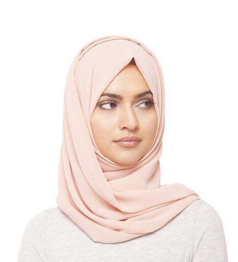 Blush Georgette Hijab - £10.99 : Inayah, Islamic Clothing & Fashion, Abayas, Jilbabs, Hijabs, Jalabiyas & Hijab Pins