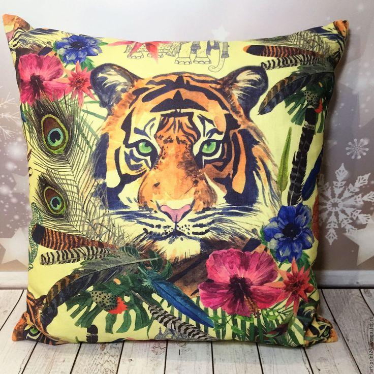 """Купить Подушка декоративная, серия """"Тропический лес"""" - комбинированный, Подушки, подушки декоративные, подушки диванные"""