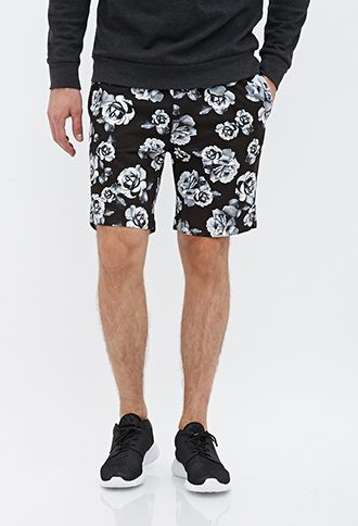 Rose Print Drawstring Shorts | 21 MEN - 2000122497
