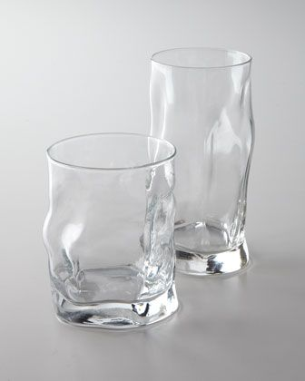 """Sorgente"" Glassware at Horchow."