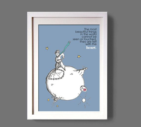 LITTLE PRINCE Le petit prince-quote art poster wall by COLOR4FUN
