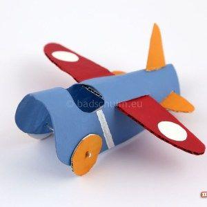 wc rolletjes knutselen vliegtuig