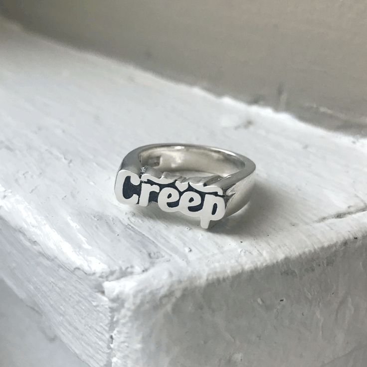 Creep Stackable Name Ring