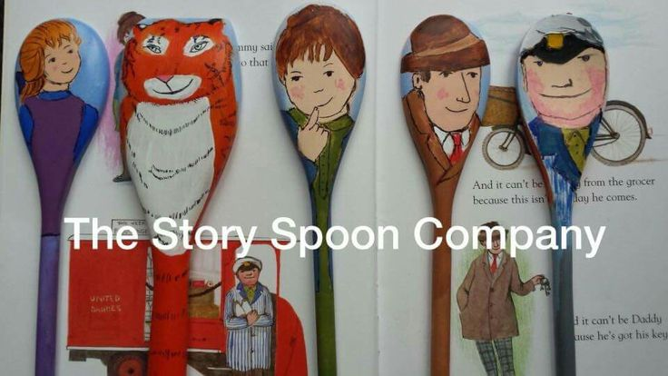 Story Spoons Puppets - The Tiger Who Came to Tea