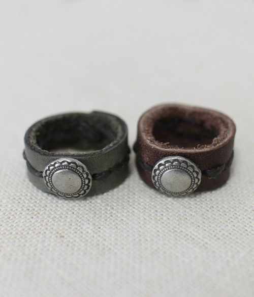 Leather Ring 1 available in 2 colours