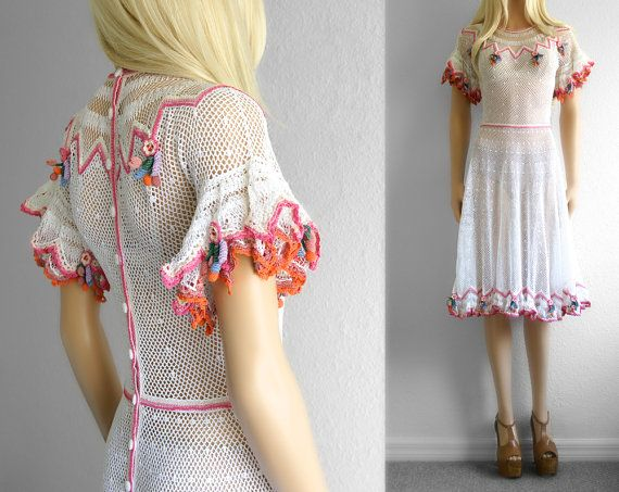 White Crochet Dress Lace Crochet Dress Women by 2treasurehunt, $249.00