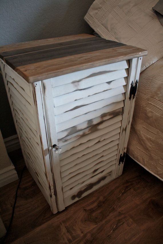 Reclaimed Shutter End Table Night Stand by dharmadesigned on Etsy, $190.00