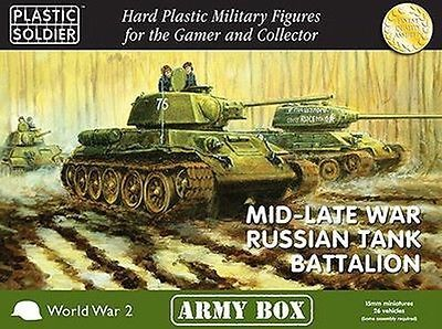 15mm 158728: Plastic Soldier Company 15Mm Mid Late War Russian Tank Battalion Free Ship -> BUY IT NOW ONLY: $99.96 on eBay!