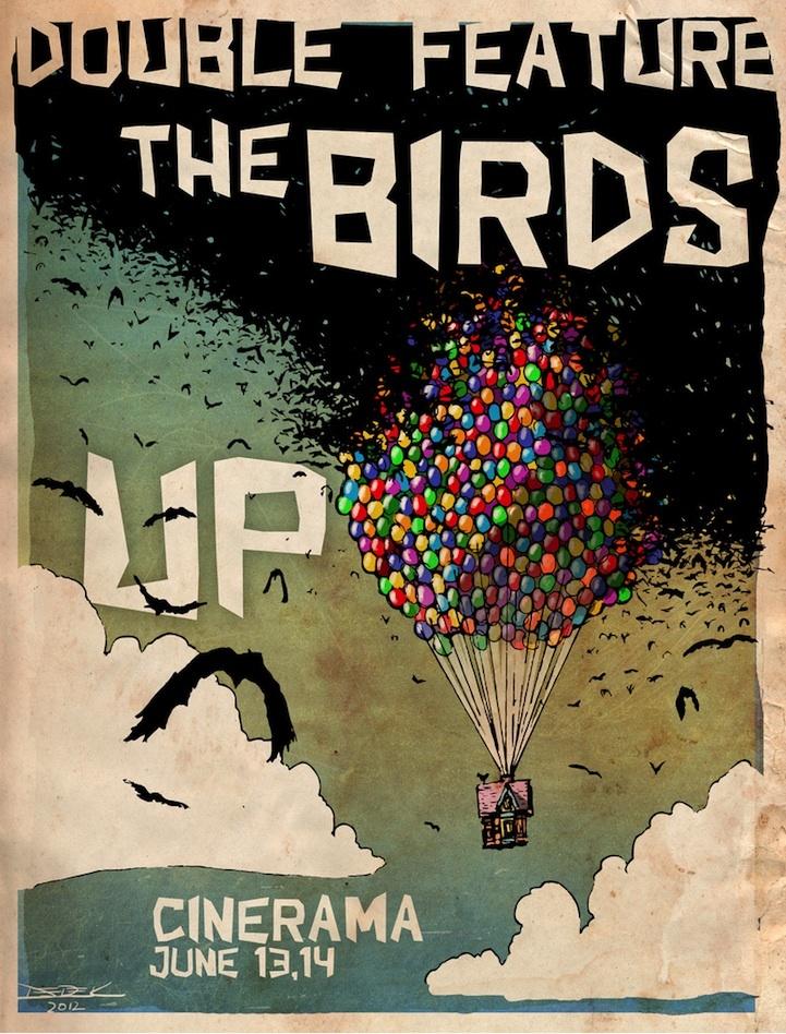 CIA☆こちら映画中央情報局です: Movie News & Tidbits : 「カールじいさんの空飛ぶ家」と「鳥」の2本立てポスター、「キック・アス2」で、クロエ・モレッツちゃんのヒットガールがまたがる愛車のバイクの写真、「バイオハザードⅤ: リトリビューション」のスタントに焦点をあてた最新プロモーション・ビデオ、and more …!! - 映画諜報部員のレアな映画情報・映画批評のブログです