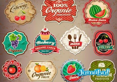 Inserts y Etiquetas Vectorizadas que Funcionan como Logos de Negocios de Comida | Jumabu! Design Tools - Vectorizados - Iconos - Vectores - Texturas