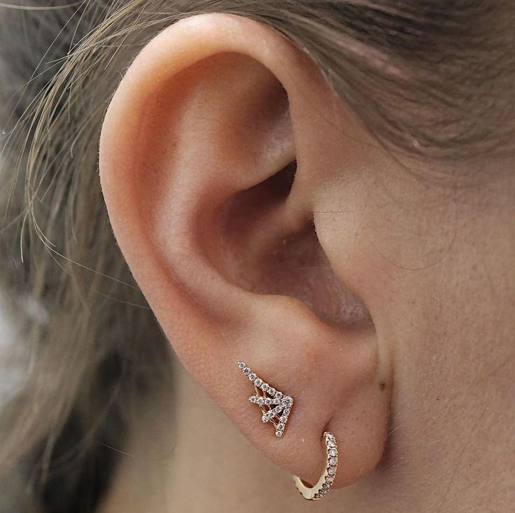 Maria Tash Diamond Eternity 18kt gold and diamond earring 8s3Pe