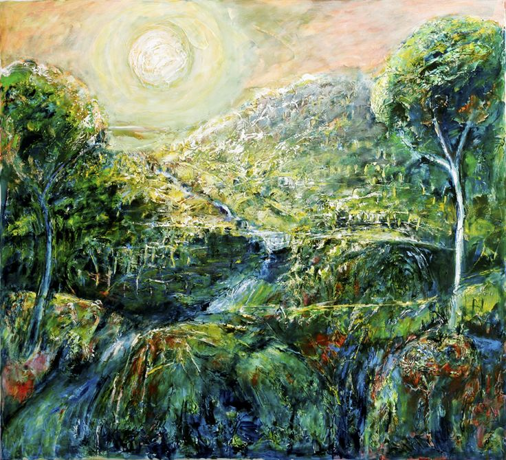 """""""Land of dreams"""" Oil on canvas 112 by 112 cms $3500 by Jeremy Holton  #painting #holiday #thailand jeremyholton.com thailand-painting-holidays.com Visit our art and photography guest house in NE Thailand by Jeremy Holton https://plus.google.com/u/0/104359568476968412848?rel=author"""