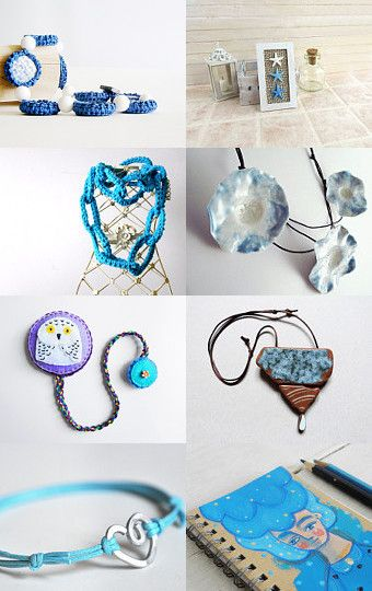 BLUE LIKE THE SEA by daniela on Etsy--Pinned with TreasuryPin.com