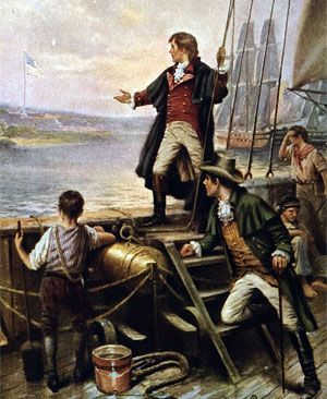 "Sept. 14, 1814, Francis Scott Key writes his famous poem ""The Star-Spangled Banner"" after witnessing the British bombardment of Fort McHenry in Maryland."