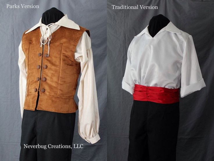 Prince Eric Costume - Two Versions by NeverbugCreations on Etsy https://www.etsy.com/listing/164569329/prince-eric-costume-two-versions