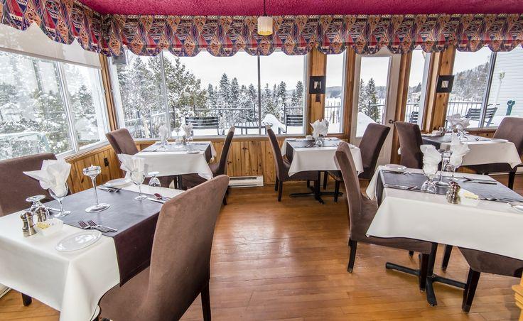 Restaurant Uno – Vue hiver sur le lac – Hotel Spa Watel