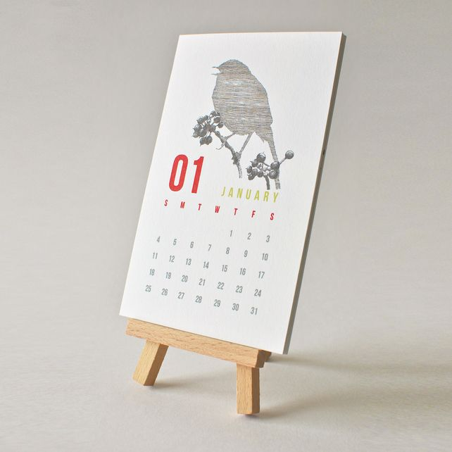 2015 Desktop Calendar £11.00. Hand drawn illustrations.