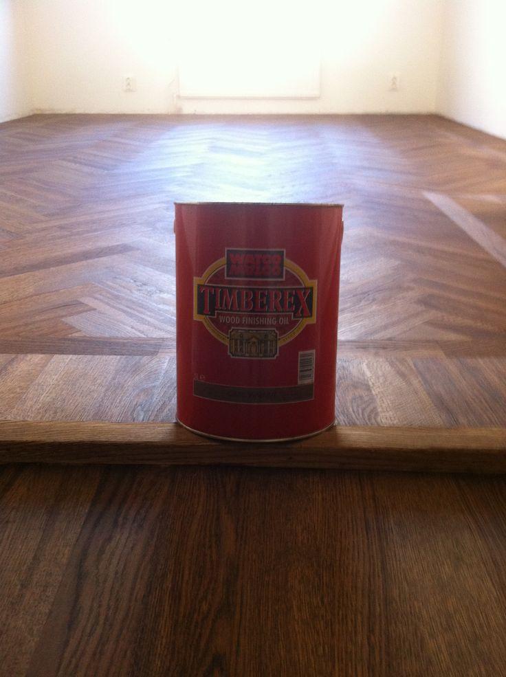 färg på golv timberex dark walnut
