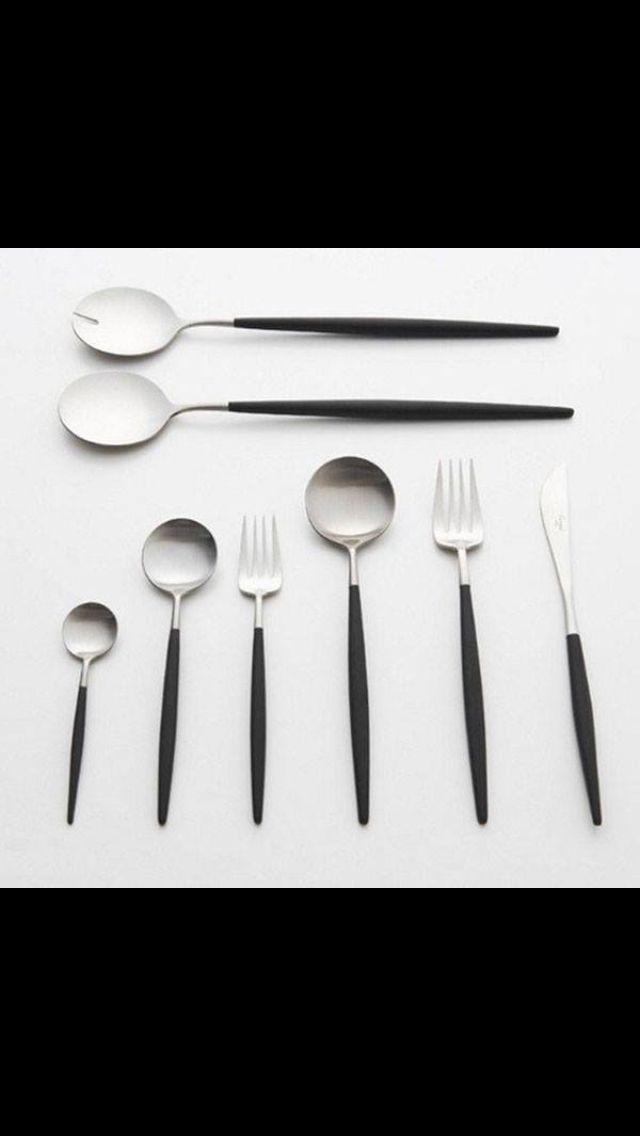 Sleek silverware