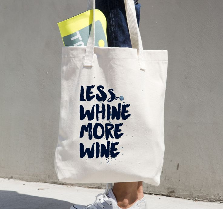 Less Whine More Wine Market Bag by The Field Guide