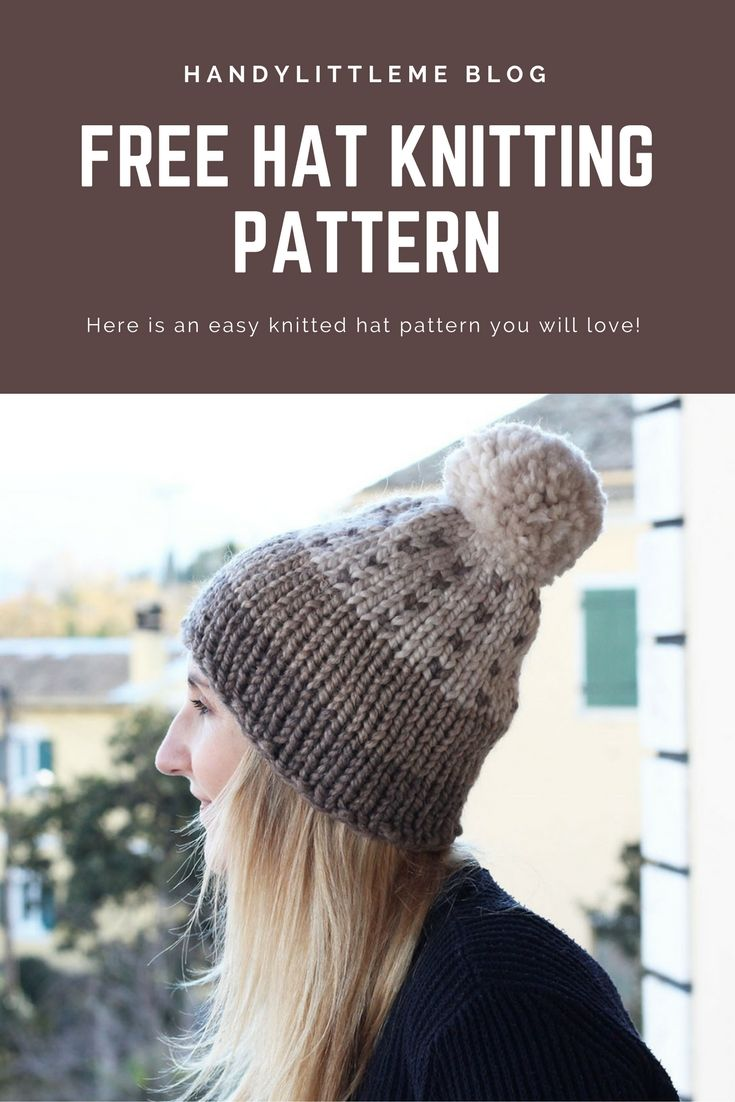 517 best free knitting patterns images on pinterest knit free easy hat knitting pattern bankloansurffo Choice Image