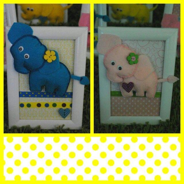 3D elephant, hand made, felt, nursery decor Fensifilc www.facebook.com/fensifilc
