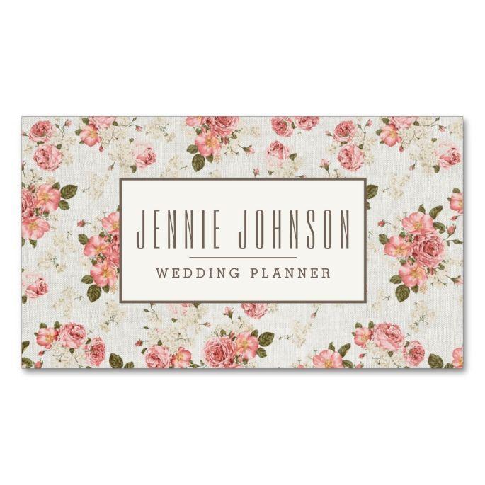 2198 best floral business card templates images on pinterest pink roses vintage floral pattern business card fbccfo Gallery
