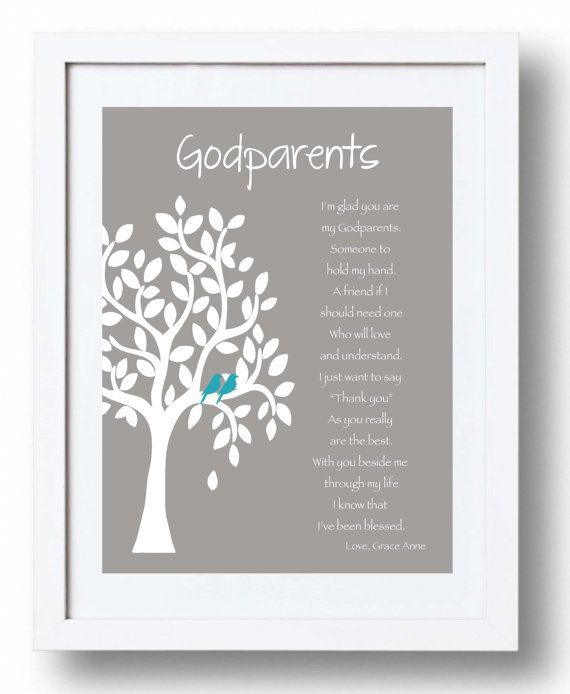 Best 25 godparent ideas ideas on pinterest godmother ideas godparents personalized gift custom gift for godparents on baptism or communion day gift from negle