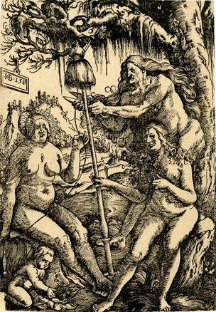 Hans Baldung Grien (1485 - 1545) - Les 3 Parques - Xylographie  1513