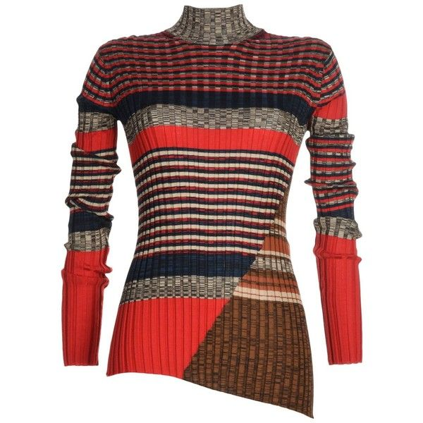 Céline Turtleneck found on Polyvore featuring tops, sweaters, red, red top, silk turtleneck sweater, celine sweater, red sweater and long sleeve turtleneck