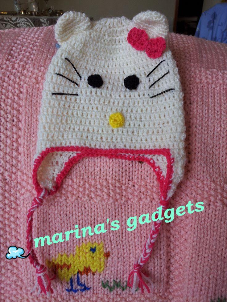 Hello Kitty Baby Hat Knitting Pattern : 32 best images about I miei lavori da indossare!(uncinetto e ferri)Crochet, k...
