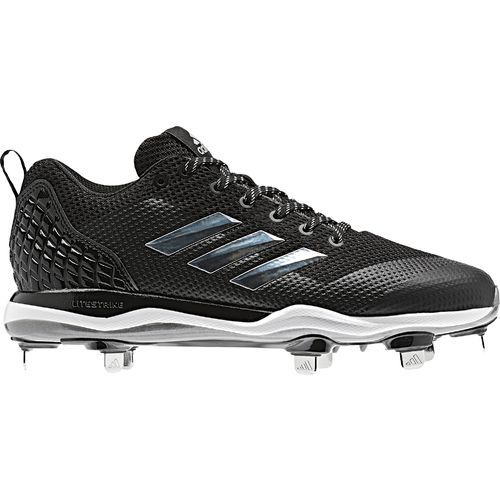 Adidas Men\u0027s PowerAlley 5 Metal Baseball Cleats (Black/Silver, Size 14) -  Adult Baseball Shoes at Academy Sports