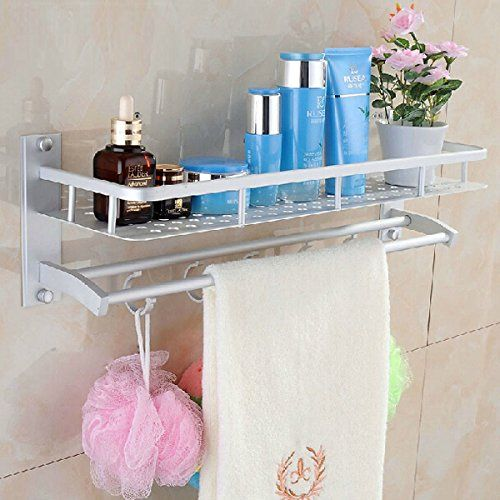 Bathroom Organization: [Free Shipping] Space Aluminum Bathroom Towel Rack Holder Wall Storage Shelf // Aluminio espacio en las estanterías de rack de almacenamiento de pared toallero baño >>> Check this awesome product by going to the link at the image.